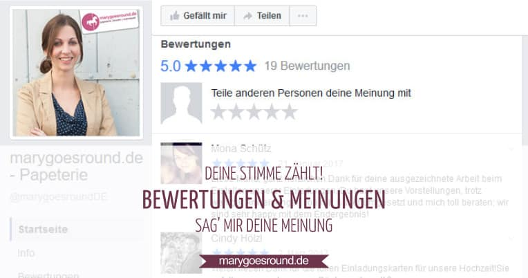 Bewertungen: Deine Meinung zählt! | marygoesround.de
