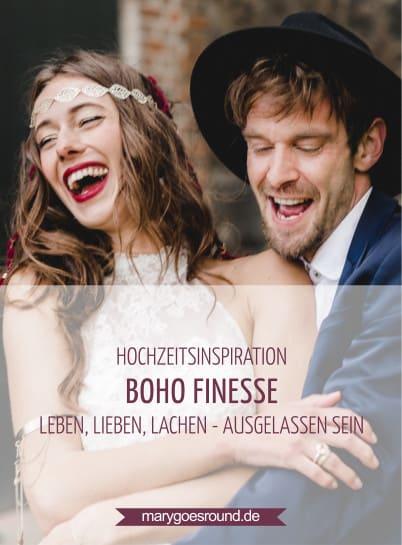 Hochzeitsinspiration: Boho Finesse, Marsala-Gold, Titelbild für Pinterest | marygoesround.de