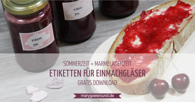 Freebie: Etiketten für Marmelade (gratis Download) | marygoesround.de