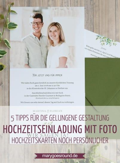 Hochzeitseinladungen mit Fotos, Titelbild | marygoesround.de