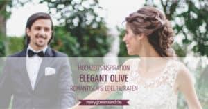 Hochzeitsinspiration: Elegant Olive (Würzburg), Titelbild | marygoesround.de