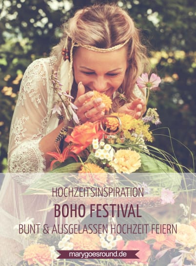 Hochzeitsinspiration: Boho Festival, Brautstrauß für die Sommerhochzeit | marygoesround.de