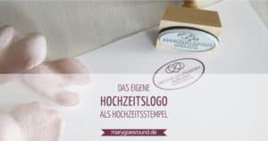 Hochzeitslogo und Stempel | marygoesround.de