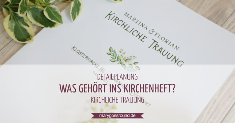 Was gehört ins Kirchenheft?, Titelbild | marygoesround.de