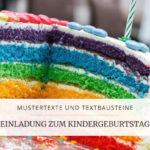 Mustertexte für die Einladung zum Kindergeburtstag, Titelbild | marygoesround®