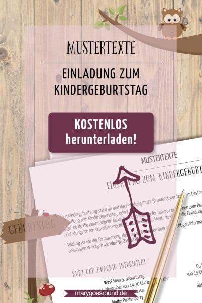 Mustertexte: Einladung zum Kindergeburtstag, kostenloser Download | marygoesround.de