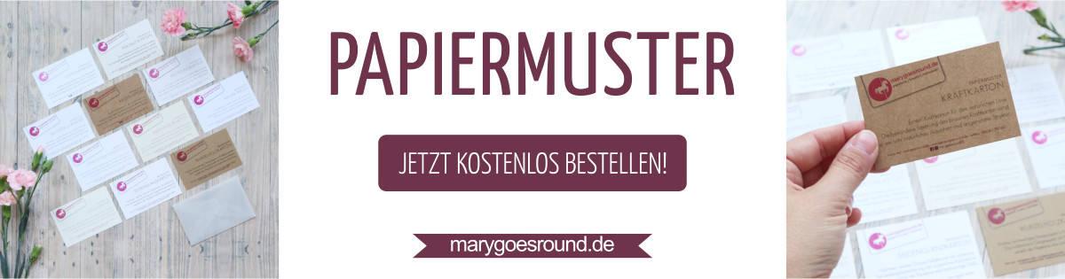 Papiermuster für individuelle Papeterie kostenlos bestellen | marygoesround.de