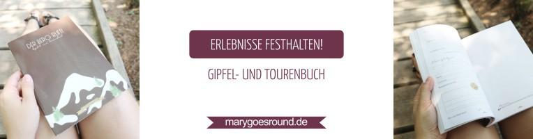 Gipfelbuch / Tourenbuch für Wanderungen, Tagebuch | marygoesround.de