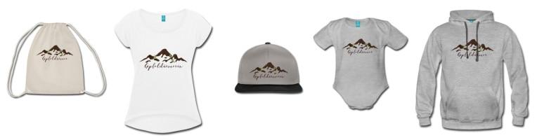 Outfits für Wanderfans und Gipfelstürmer in unserem Spreadshop!