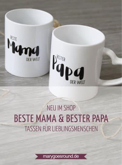 Tassen für Lieblingsmenschen - Geschenk zu Muttertag und Vatertag (Kollektion: Sue & Balou) | marygoesround.de