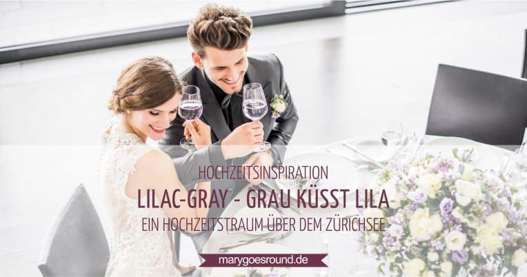Hochzeitsinspiration: Grau küsst Lila (Zürichsee), Titelbild | marygoesround.de