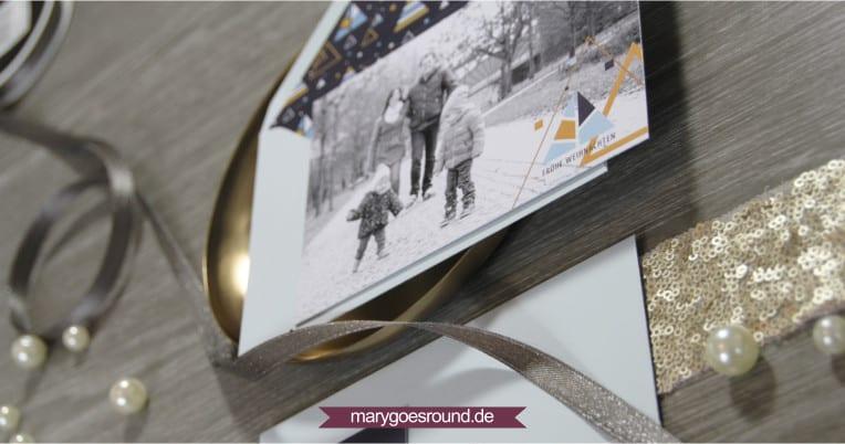 Weihnachtskarte mit Foto | marygoesround.de