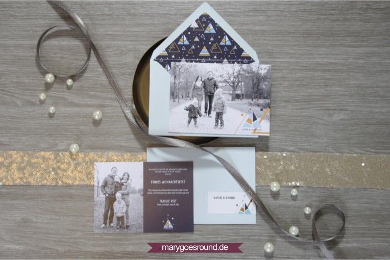 Weihnachtskartenset inkl. Umschlag mit Inlay | marygoesround.de