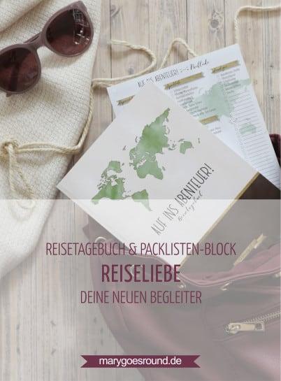 Reisetagebuch und Packlisten-Block (Kollektion: REISELIEBE) | marygoesround.de
