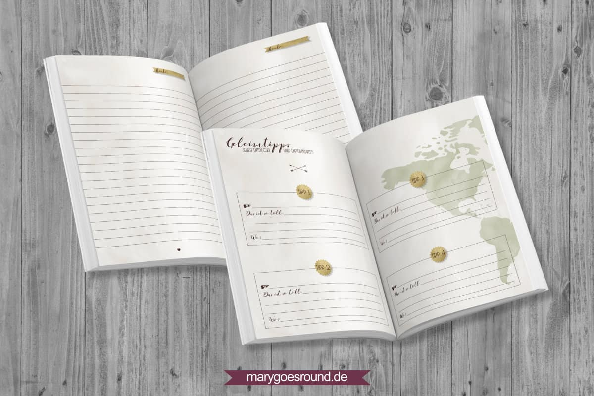 Reisetagebuch (Kollektion: REISELIEBE) | marygoesround.de
