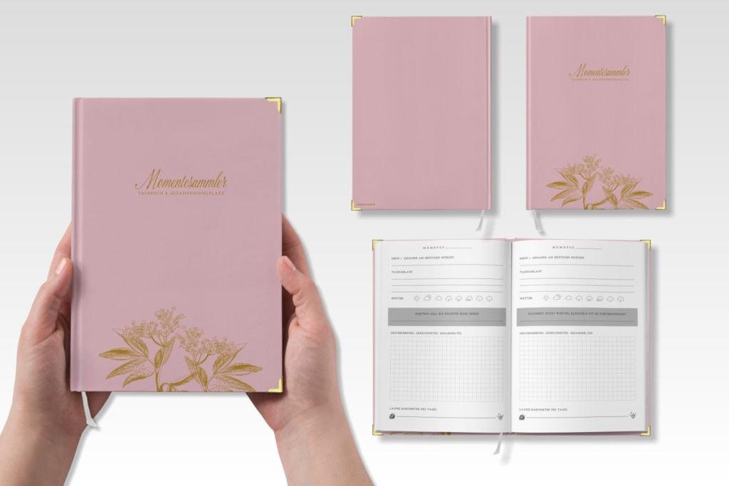 Tagebuch MOMENTESAMMLER, rosa | marygoesround®
