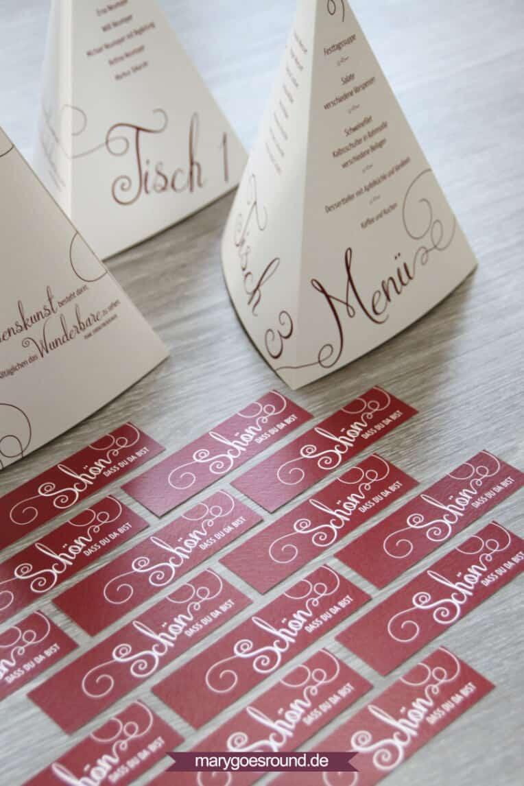 Menükarten und Gastgeschenke zum 60. Geburtstag | marygoesround.de