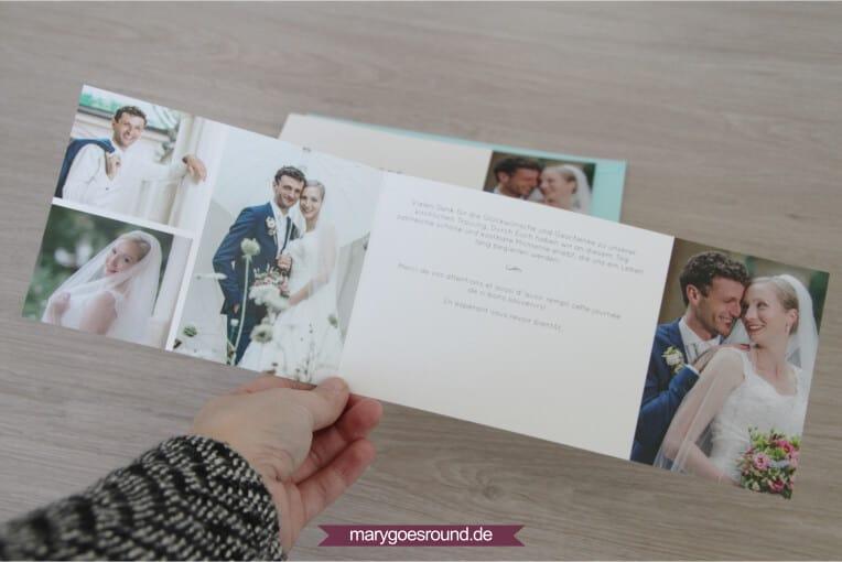 Hochzeitsset Wiesenblumen, zweisprachig (Dankeskarte) | marygoesround.de