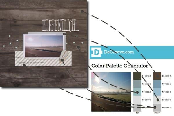Layout-Vergleich mit Farbpalette