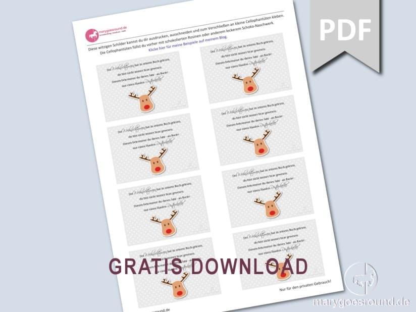 Rentierkacke - witziges Weihnachtsgeschenk - Download | marygoesround.de
