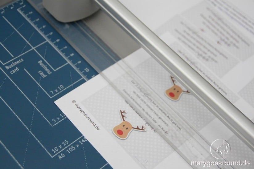 Rentierkacke - witziges Weihnachtsgeschenk - Etiketten zuschneiden | marygoesround.de