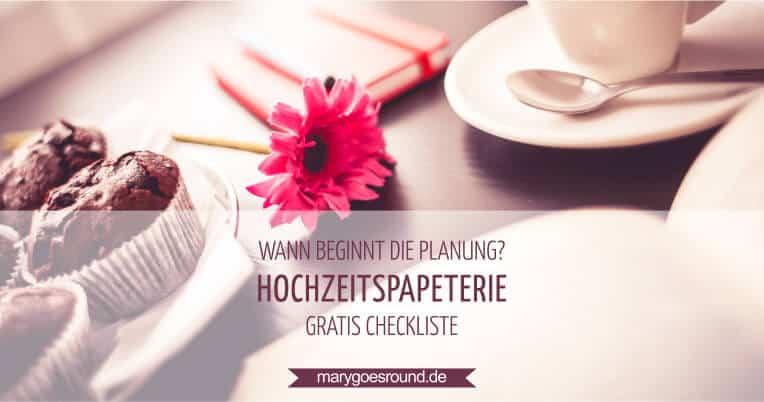 Checkliste für die Hochzeitspapeterie, Planung | marygoesround.de