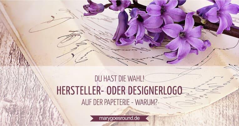 Hersteller- oder Designerlogo auf Papeterie | marygoesround.de