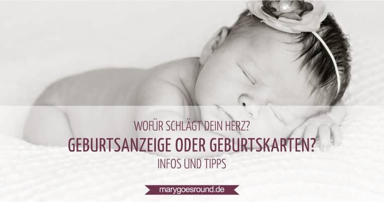 Geburtsanzeige oder Geburtskarten | marygoesround.de