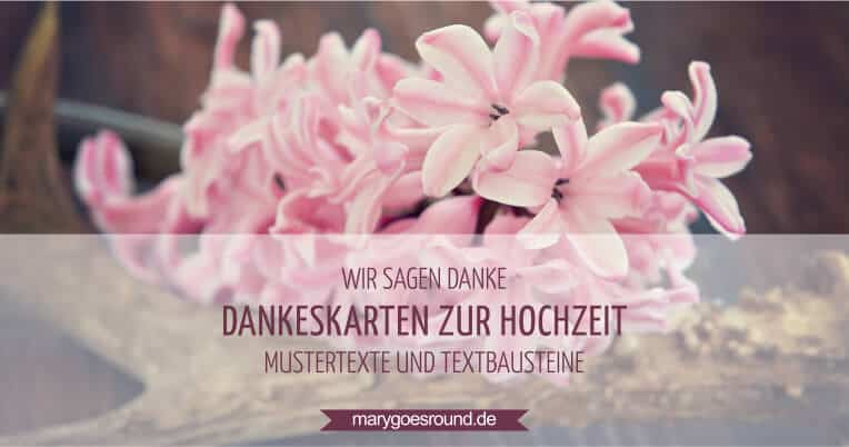 Mustertexte Dankeskarten | marygoesround.de