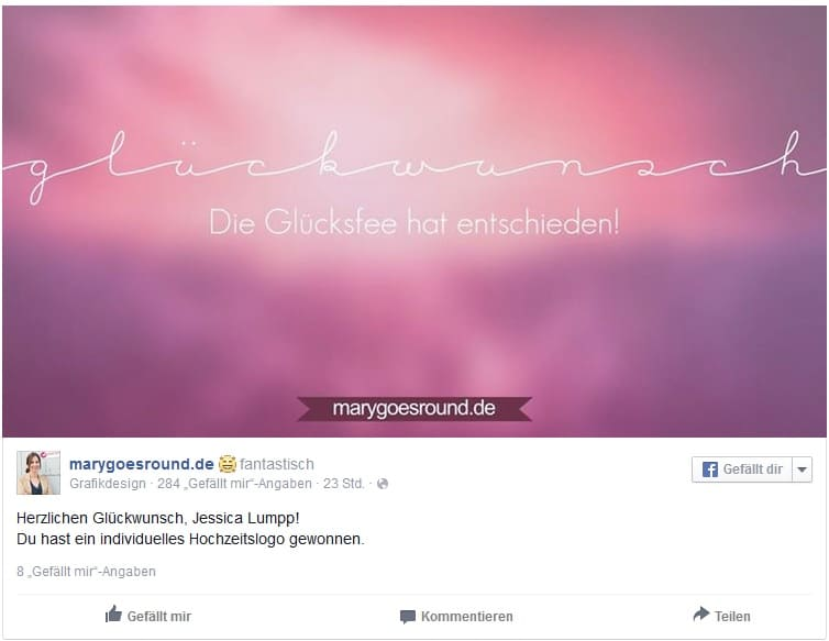 Gewinnspiel-Auslosung September 2015 | marygoesround.de