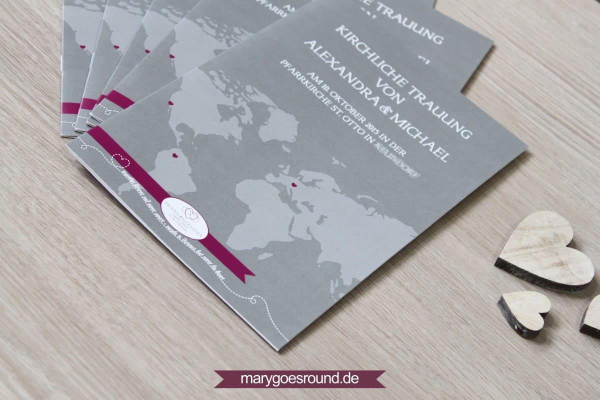 Hochzeitsset Weltkarte   marygoesround.de