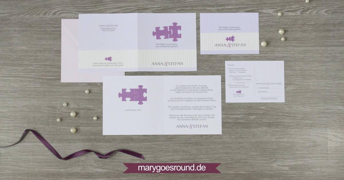 Hochzeitseinladung Mit Antwortkarte Marygoesround De
