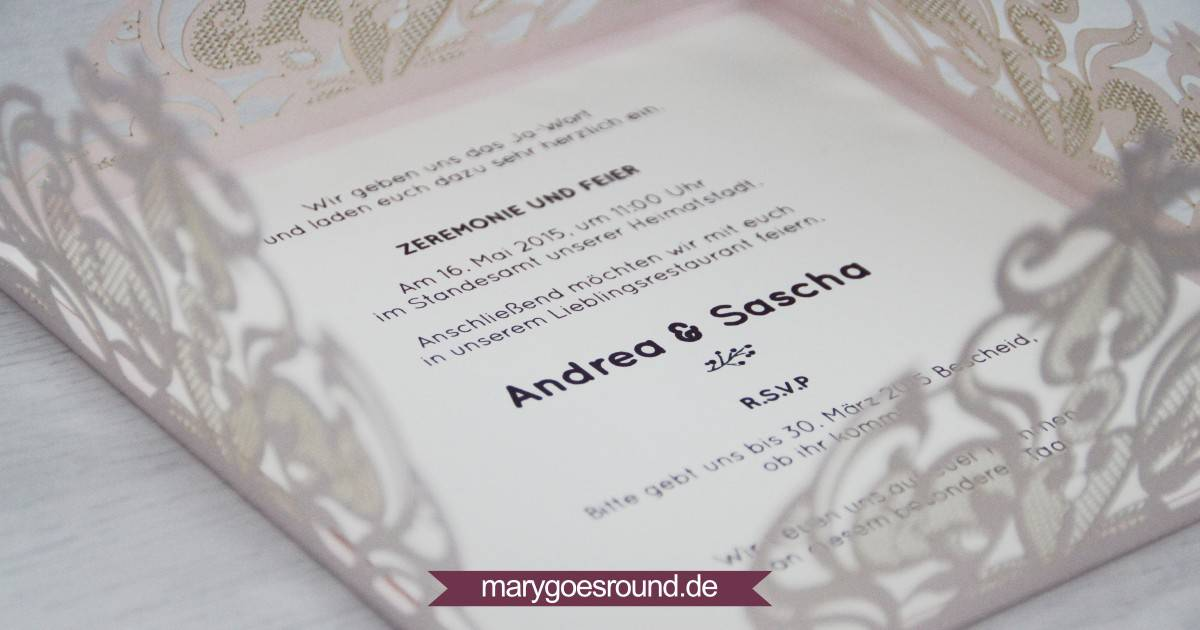 Lasercut Hochzeitseinladungen | marygoesround.de