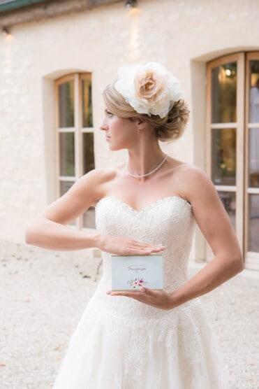 Hochzeitsinspiration: Märchenhochzeit im Schloss (Styled Shooting, Schoss Hofstetten), elegante Braut | marygoesround.de