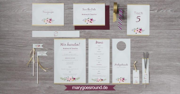 Hochzeitsinspiration: Märchenhochzeit im Schloss (Styled Shooting, Schoss Hofstetten), Hochzeitspapeterie | marygoesround.de
