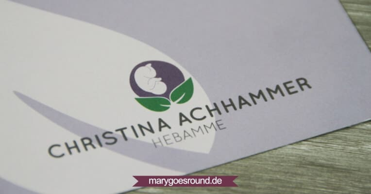 Corporate Design - Logo und Folder für Hebamme | marygoesround.de