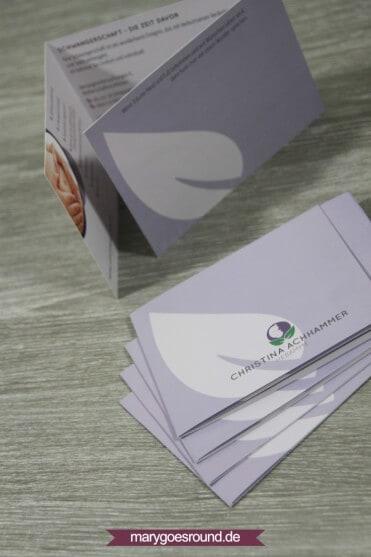 Corporate Design - Logo und Folder für Hebamme   marygoesround.de