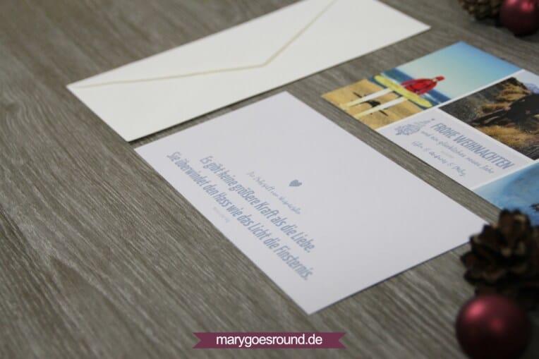 Weihnachtskarte und Babynews | marygoesround.de