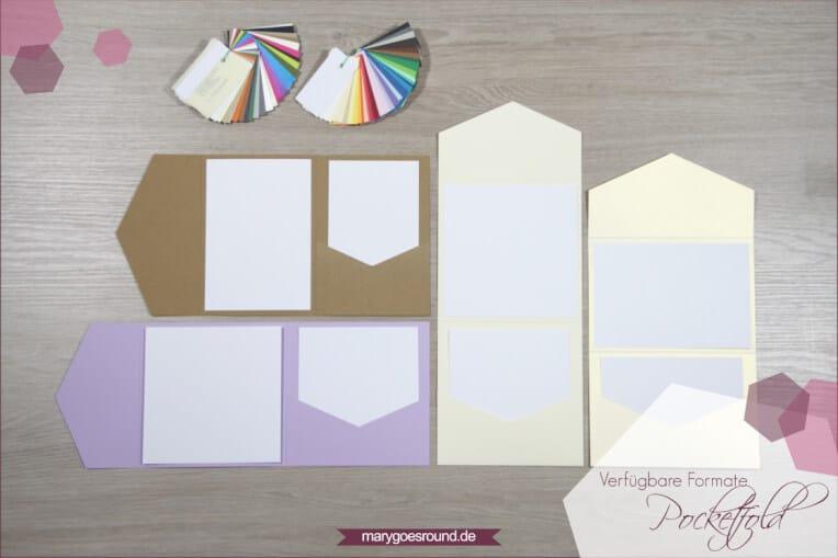Aktuelles Standardsortiment: Pocketfoldkarten | marygoesround.de