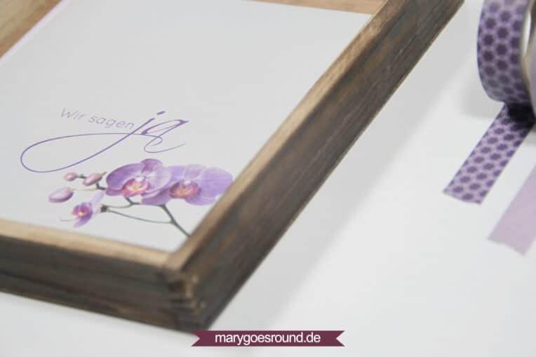 Hochzeitseinladung: Orchidee lila | marygoesround.de