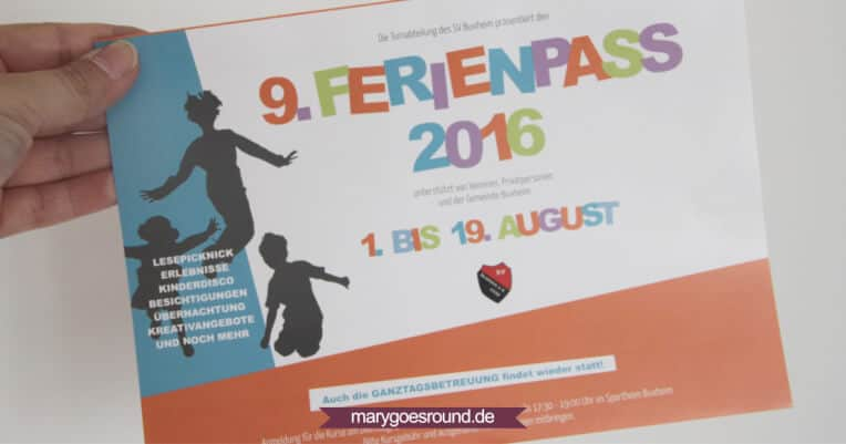SV Buxheim Ferienpass 2016 | marygoesround.de