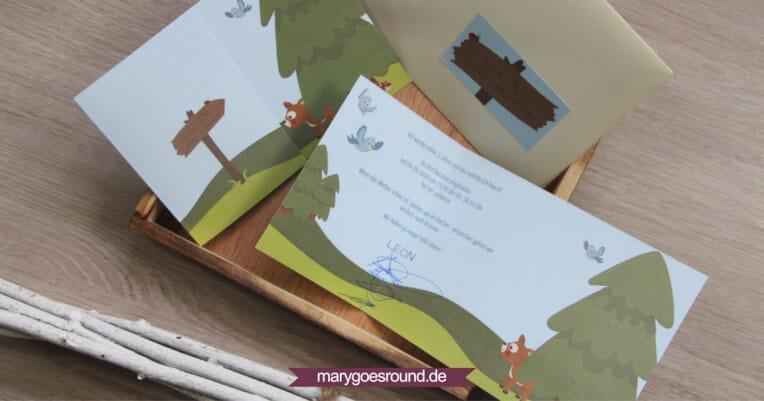Geburtstagseinladung Kindergeburtstag Wald | marygoesround.de