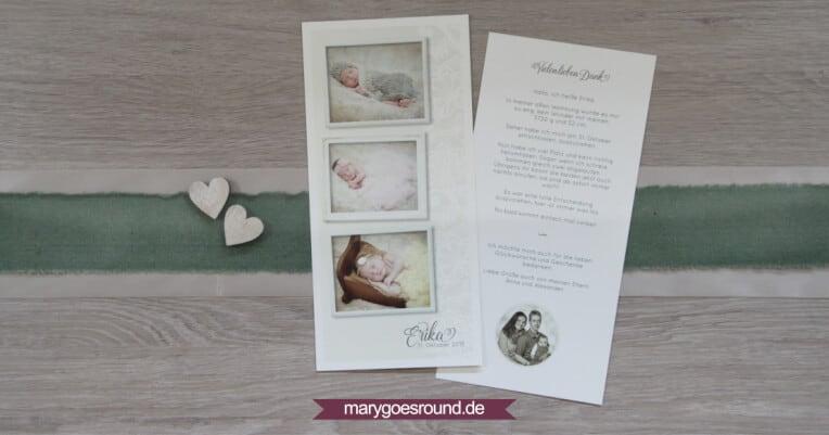 Geburtskarte Schmetterlinge | marygoesround.de