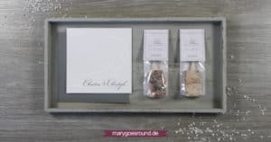 Hochzeitseinladung und Gastgeschenke im Set, schlicht, klassisch   marygoesround.de