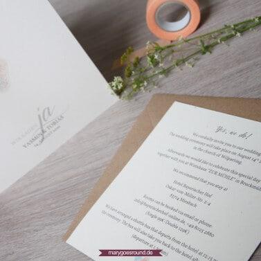 Hochzeitstrends 2017, Hochzeitspapeterie - natürlich, Kraftpapier | marygoesround.de