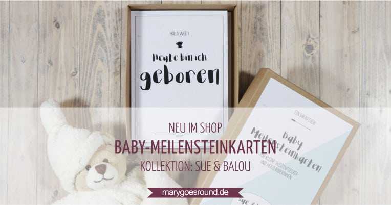 geschenk zur geburt baby meilensteinkarten in der geschenkbox. Black Bedroom Furniture Sets. Home Design Ideas