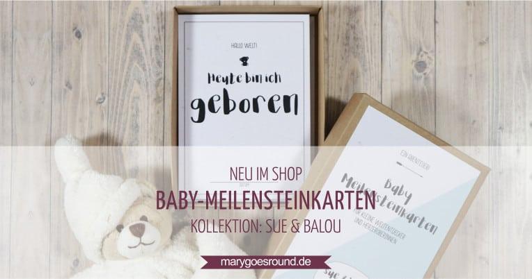 """Baby-Meilensteinkarten in der Geschenkbox, Kollektion """"Sue & Balou"""" - das perfekte Geschenk zur Geburt   marygoesround.de"""