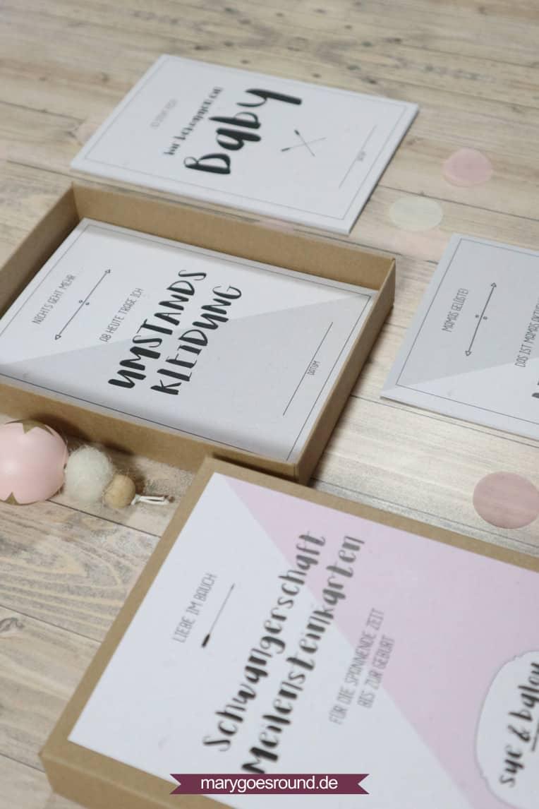 Geschenkbox zur schwangerschaft