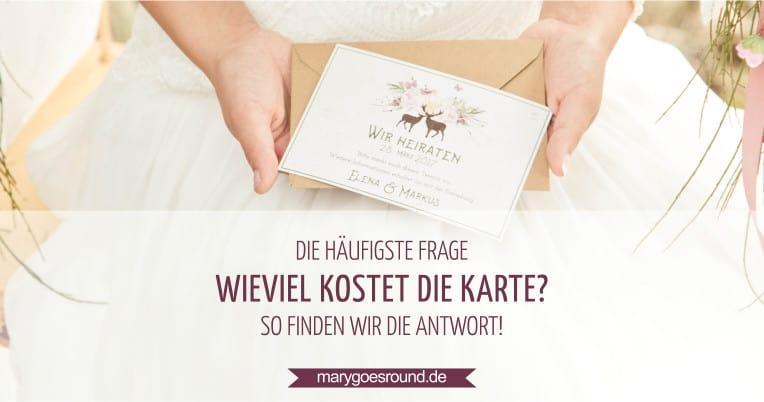 Wieviel kostet die Hochzeitseinladung? | marygoesround.de