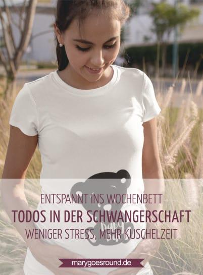 Entspannt ins Wochenbett - Dinge, die du bereits in der Schwangerschaft erledigen kannst. | marygoesround.de